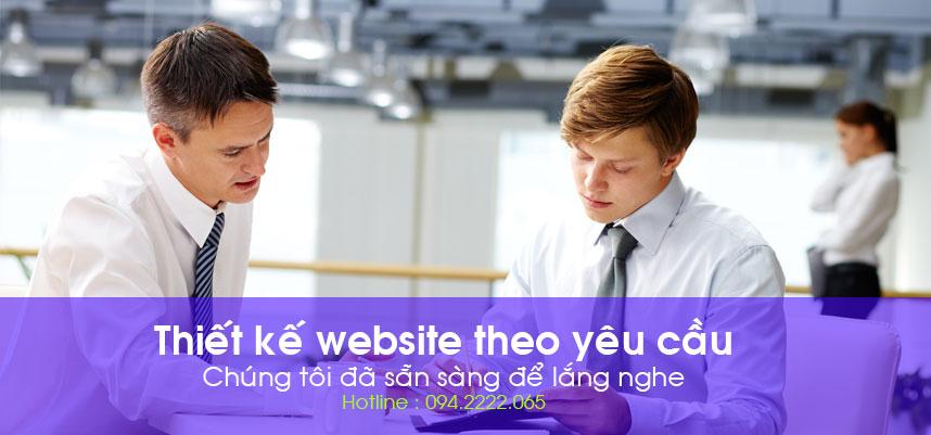 thiết kế website theo yêu cầu - chúng tôi đã sẵn sàng để lắng nghe