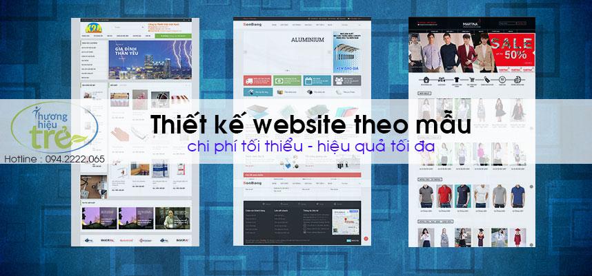 Thiết kế website theo mẫu với nhiều lựa chọn giao diện từ Thương Hiệu Trẻ